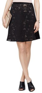 Ann Taylor Lace Laser Cut Office To Drinks Lace Skirt Black