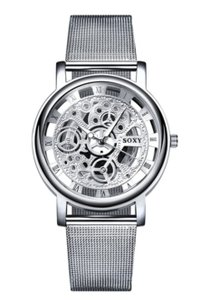 Other ** NWT ** HOLLOW STAINLESS STEEL MEN'S WATCH