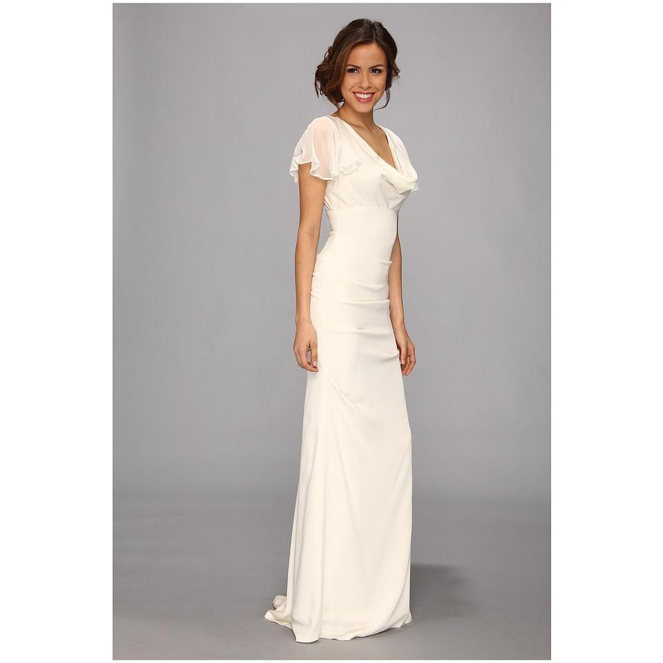 Crepe Wedding Gown: Nicole Miller Antique White Silk Crepe De Chine Stretch