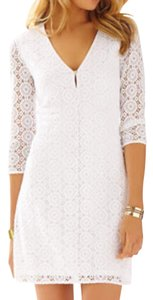 Lilly Pulitzer short dress white Tory Burch Dvf Joie Rebecca Taylor Alice Olivia on Tradesy