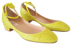 Valentino Tango Style Christal Green Yellow Pumps