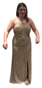 Adrianna Papell Sequin Gold Bridesmaid Dress