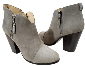 Rag & Bone Zipper Closure Waxed Striking Side Zippers Warm grey suede Boots