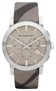 Burberry 100% New BURBERRY BU9358 BROWN LEATHER CHRONOGRAPH MENS WATCH