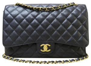 Chanel Maxi Double Flap Caviar Shoulder Bag