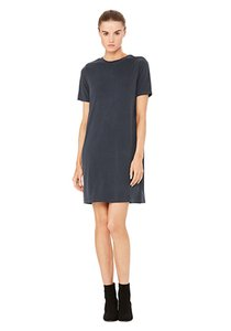 Bella Luxx short dress Black T-shirt Mini Suede on Tradesy