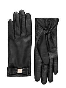 Kate Spade Leather Colorblock 2 blt Bow Gloves Tech Friendly