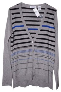 Barneys New York Soft Striped Cardigan