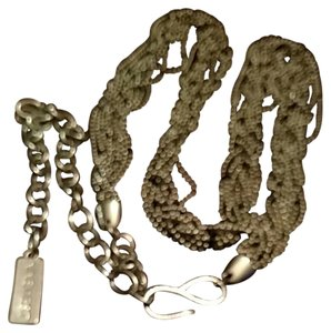 Nine West Silver metal chain belt
