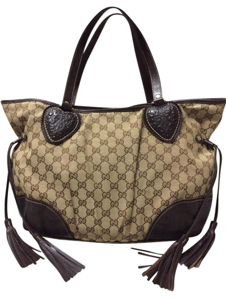 a3c8236a9601 Gucci Tote Leather Tote Tassel Tote Bamboo Tote Shoulder Bag Image 0 ...