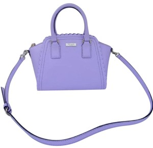 Kate Spade Road Marguerite Natural Midnight Satchel in Lilac