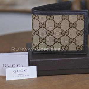Gucci Gucci GG Supreme Canvas Bi-Fold Wallet