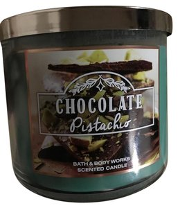 Bath and Body Works chocolate pistachio 3 wick large candle new