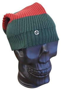 Gucci Gucci Wool Green Red GG Slouchy Beanie