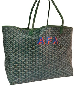 Goyard Hermes Louis Vuitton Chanel Tote in greens