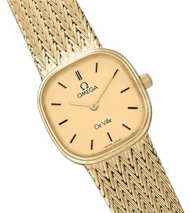 Omega Omega De Ville Ladies Bracelet Dress Quartz Watch - 18K Gold Plated &