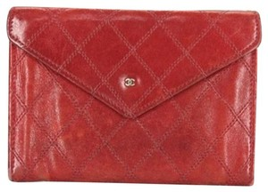 Chanel CC Quilted Envelope Clutch
