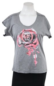 Alexander McQueen Gray Graphic T Shirt