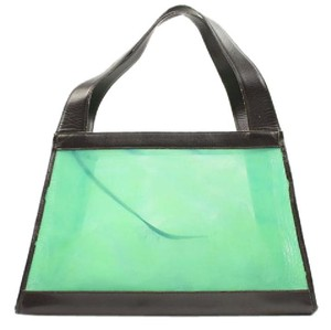 Chanel Tote in Green Blue Teal Black