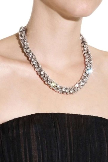 Preload https://item1.tradesy.com/images/bcbgmaxazria-silver-rhinestone-cluster-necklace-204505-0-0.jpg?width=440&height=440