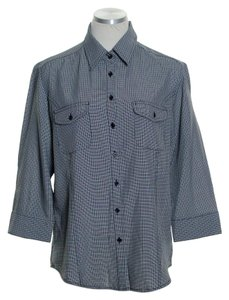 Croft & Barrow Button Down Shirt Black/White