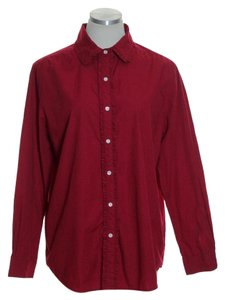 Basic Editions Button Down Shirt Red