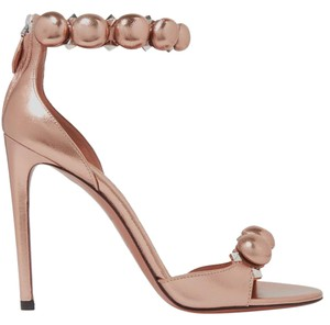 ALAA Alaia Sandals 110mm Leather rose gold Pumps