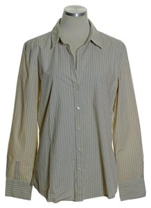 Old Navy Button Down Shirt Beige Yellow