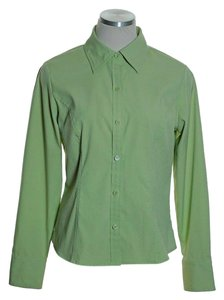 Style & Co Button Down Shirt Green