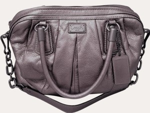 Coach Satchel in Silver Slate
