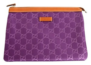 Gucci NEW Authentic GUCCI GG Travel Pouch Cosmetic Bag Purple 282071 5268