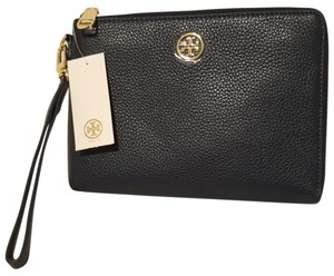 Tory Burch Leather Wristlet in Hudson Bay Blue