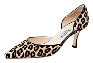 Suarez Animal Print Pony Hair Brown Pumps