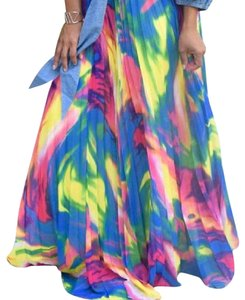 Other Full Length Pleated Maxi Skirt Multi-Color
