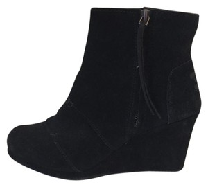 TOMS Wedge Black Suede Boots