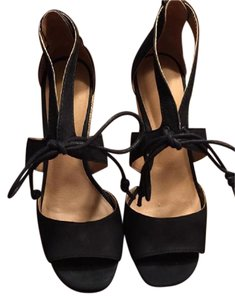 Lucky Brand Espadrille Wedge Sandals Black Wedges