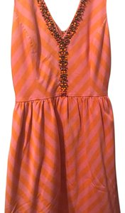 Lilly Pulitzer short dress pink with orange striped on Tradesy