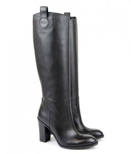 Gucci Script Tall Knee Leather 317032 Boots