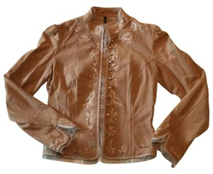 Tahari Tan Leather Jacket