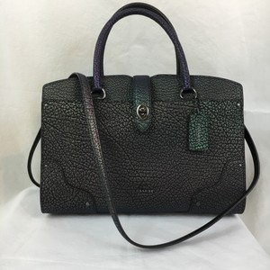 Coach Hologram Metallic Gunmetal Satchel in Multicolor