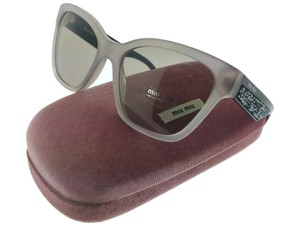 Miu Miu MU06RS-UE25J2 Women's Argil Beige Frame Brown Lens Sunglasses