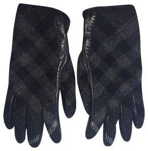 Burberry Burberry Lambskin Charcoal Grey Gloves
