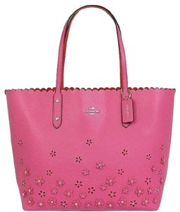 Coach Floral Applique Tote