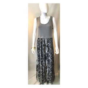 Grey and animal print Maxi Dress by Calvin Klein