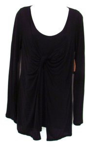 White House | Black Market Whbm Knot Long Sleeve Top Black