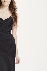 6e60428617ede David s Bridal Black Polyester Evening Gown Formal Bridesmaid Mob Dress Size  Petite ...