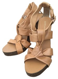 BCBGeneration Wedge Leather Tan Sandals