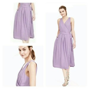 Banana Republic Cross-front Summer Lilac Sweet Dress