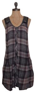 Free People short dress MULTI Plaid We The Free Frayed on Tradesy