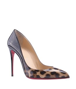 Christian Louboutin Cheetah Stiletto ,Animal Print,Black Pumps
